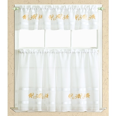 RT Designer's Collection Spring Kitchen Curtain; Gold