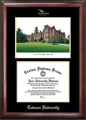 Campus Images NCAA Gold Embossed Diploma w/ Campus Images Lithograph Picture Frame; Towson Tigers
