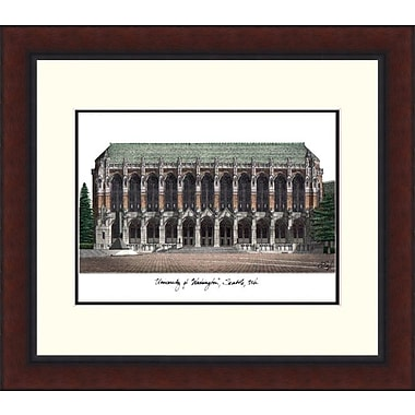 Campus Images Legacy Alumnus Lithograph Picture Frame; Washington Huskies
