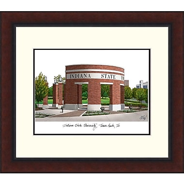 Campus Images Legacy Alumnus Lithograph Picture Frame; Indiana State Sycamores