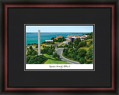 Campus Images Academic Lithograph Picture Frame; Pepperdine Waves
