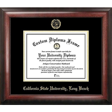 Campus Images NCAA Gold Embossed Diploma Picture Frame; Long Beach State 49ers