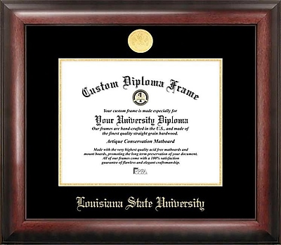 Campus Images NCAA Gold Embossed Diploma Picture Frame; LSU Tigers