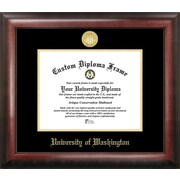 Campus Images NCAA Gold Embossed Diploma Picture Frame; Washington Huskies