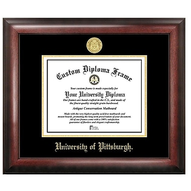 Campus Images NCAA Gold Embossed Diploma Picture Frame; Pittsburgh Panthers