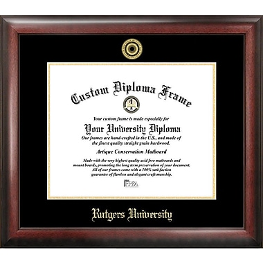 Campus Images NCAA Gold Embossed Diploma Picture Frame; Rutgers Scarlet Knights
