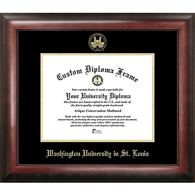 Campus Images NCAA Gold Embossed Diploma Picture Frame; Washington-St. Louis Bears