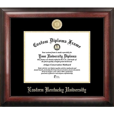 Campus Images NCAA Gold Embossed Diploma Picture Frame; Eastern Kentucky Colonels