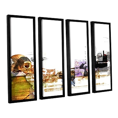 ArtWall 'Stages' by Greg Simanson 4 Piece Framed Graphic Art on Wrapped Canvas Set