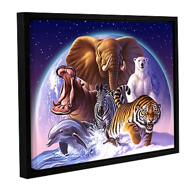 ArtWall 'Wild World' by Jerry Lofaro Framed Graphic Art on Wrapped Canvas; 36'' H x 48'' W