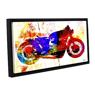 ArtWall 'Moto III' by Greg Simanson Framed Graphic Art on Wrapped Canvas; 12'' H x 24'' W x 2'' D