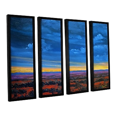 ArtWall 'Shadow Moses' by Gene Foust 4 Piece Framed Painting Print on Canvas Set