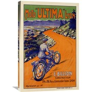 Global Gallery Moto Vintage Advertisement on Wrapped Canvas