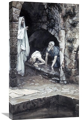 Global Gallery 'Man w/ an Infirmity of 38 Years' by James Tissot Painting Print on Wrapped Canvas