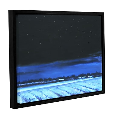 ArtWall 'Snowy Nights' by Gene Foust Framed Painting Print on Wrapped Canvas; 14'' H x 18'' W