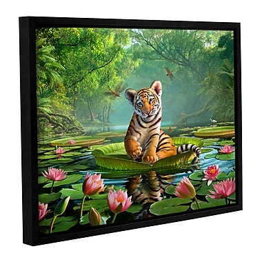 ArtWall 'Tiger Lily' by Jerry Lofaro Framed Graphic Art on Wrapped Canvas; 18'' H x 24'' W