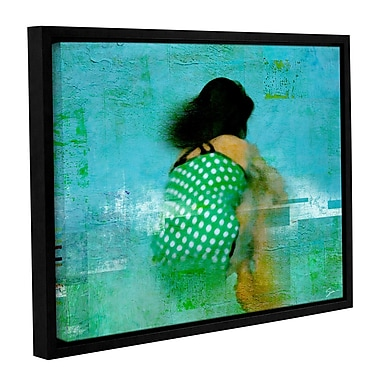 ArtWall 'Floating Away' by Greg Simanson Framed Painting Print on Wrapped Canvas; 14'' H x 18'' W