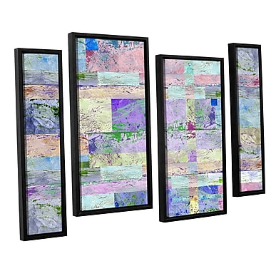 ArtWall 'Abstract I' by Greg Simanson 4 Piece Framed Graphic Art on Wrapped Canvas Set