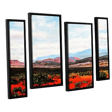 ArtWall 'Joyride' by Gene Foust 4 Piece Framed Painting Print on Canvas Set; 36'' H x 54'' W x 2'' D