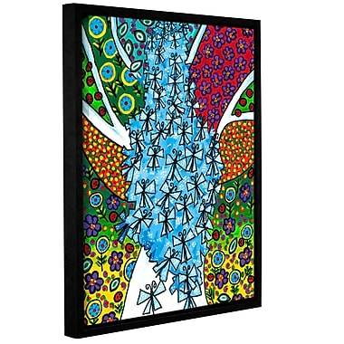 ArtWall 'Cocoon' by Debra Purcell Framed Graphic Art on Wrapped Canvas; 32'' H x 24'' W