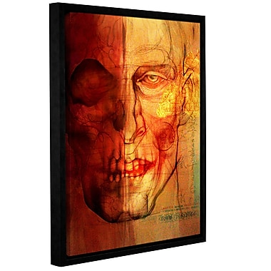 ArtWall 'Facial Anatomy' by Greg Simanson Framed Graphic Art on Wrapped Canvas; 18'' H x 14'' W