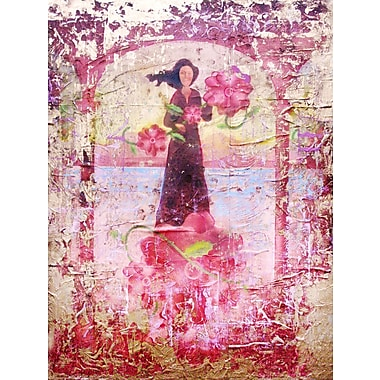 ArtWall 'Flower Happy' by Greg Simanson Painting Print on Wrapped Canvas; 48'' H x 36'' W