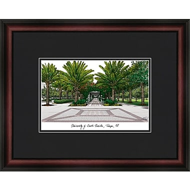 Campus Images Academic Lithograph Picture Frame; South Florida Bulls