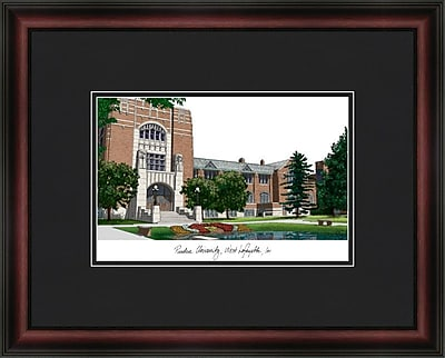 Campus Images Academic Lithograph Picture Frame; Purdue Boilermakers