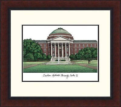 Campus Images Legacy Alumnus Lithograph Picture Frame; SMU Mustangs