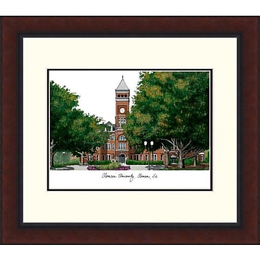 Campus Images Legacy Alumnus Lithograph Picture Frame; Clemson Tigers