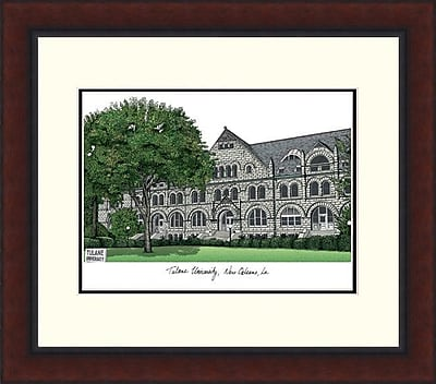 Campus Images Legacy Alumnus Lithograph Picture Frame; Tulane Green Wave