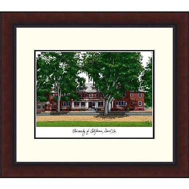 Campus Images Legacy Alumnus Lithograph Picture Frame; UC Davis Aggies
