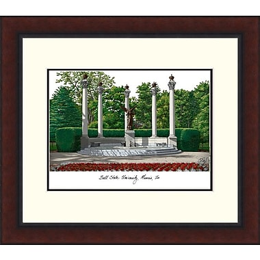Campus Images Legacy Alumnus Lithograph Picture Frame; Ball State Cardinals