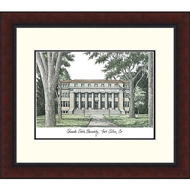 Campus Images Legacy Alumnus Lithograph Picture Frame; Colorado State Rams