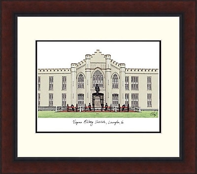 Campus Images Legacy Alumnus Lithograph Picture Frame; VMI Keydets