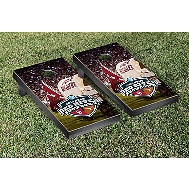 Victory Tailgate NCAA Red River Showdown Version Cornhole Game Set; Oklahoma Sooners