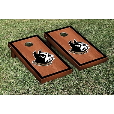 Victory Tailgate NCAA Rosewood Stained Border Version Cornhole Bag Toss Game Set; WoffordTerriers