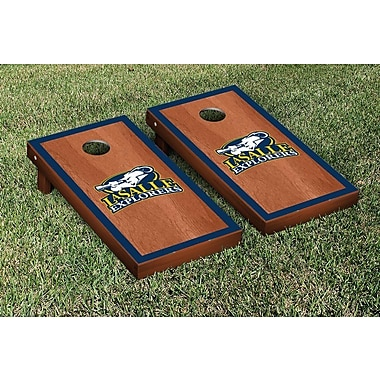 Victory Tailgate NCAA Rosewood Stained Border Version Cornhole Bag Toss Game Set; La Salle