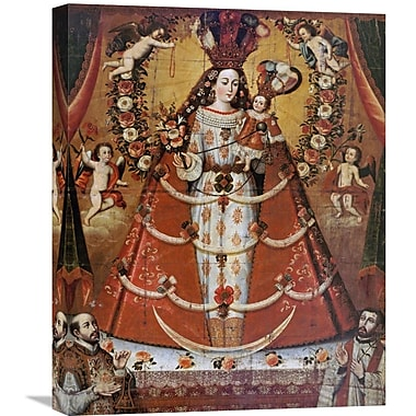 Global Gallery Our Lady of the Rosary Painting Print on Wrapped Canvas; 30'' H x 23.92'' W x 1.5'' D