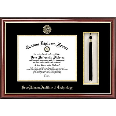 Campus Images NCAA Tassel Box and Diploma Picture Frame; Rose Hulman Institute