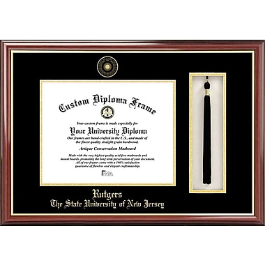 Campus Images NCAA Tassel Box and Diploma Picture Frame; Rutgers Scarlet Knights