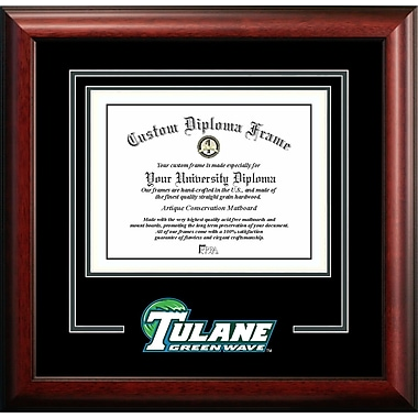 Campus Images NCAA Spirit Diploma Picture Frame; Tulane Green Wave