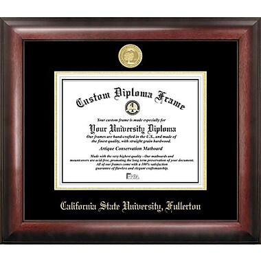 Campus Images NCAA Gold Embossed Diploma Picture Frame; Cal State Fullerton Titans