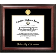 Campus Images NCAA Gold Embossed Diploma Picture Frame; Arkansas Razorbacks