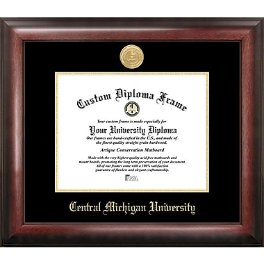 Campus Images NCAA Gold Embossed Diploma Picture Frame; Central Michigan Chippewas