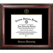 Campus Images NCAA Gold Embossed Diploma Picture Frame; Clemson Tigers