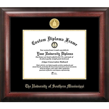 Campus Images NCAA Gold Embossed Diploma Picture Frame; Southern Mississippi Golden Eagles