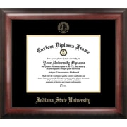 Campus Images NCAA Gold Embossed Diploma Picture Frame; Indiana State Sycamores