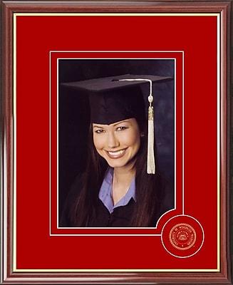 Campus Images Graduate Portrait Picture Frame; Wisconsin Badgers