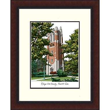 Campus Images Legacy Alumnus Lithograph Picture Frame; Michigan State Spartans